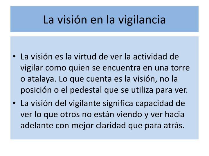 La visión en la vigilancia
