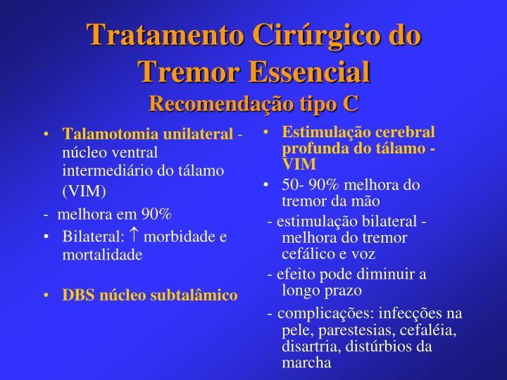 Talamotomia unilateral