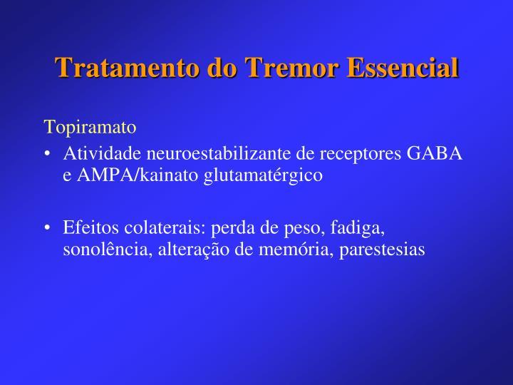 Tratamento do Tremor Essencial