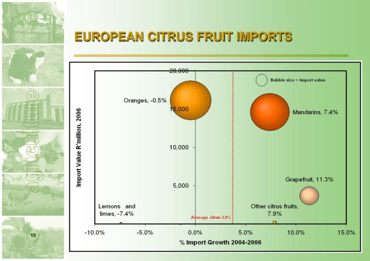 EUROPEAN CITRUS FRUIT IMPORTS