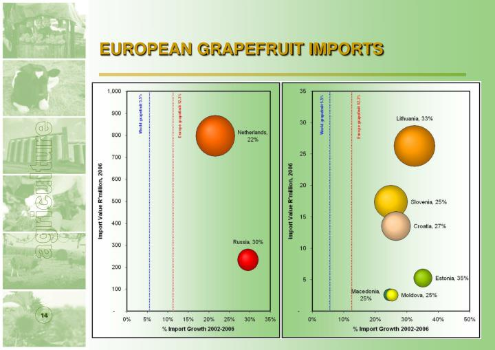EUROPEAN GRAPEFRUIT IMPORTS