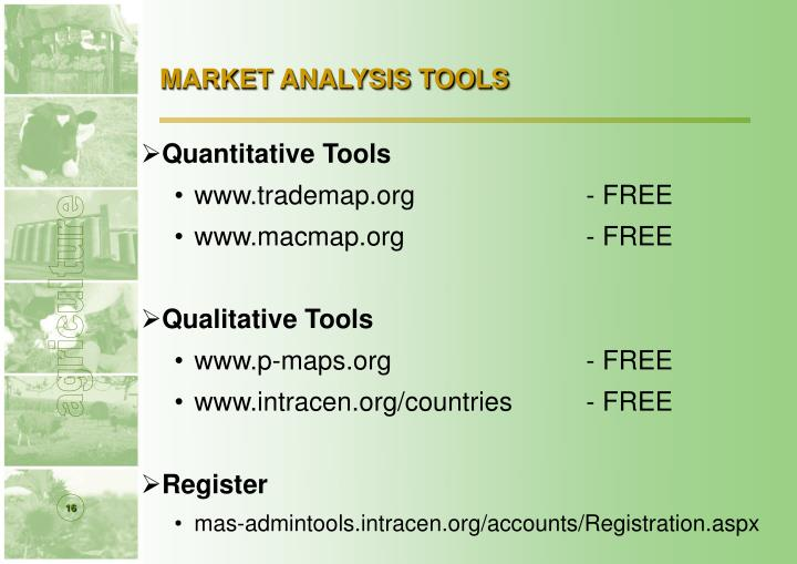MARKET ANALYSIS TOOLS