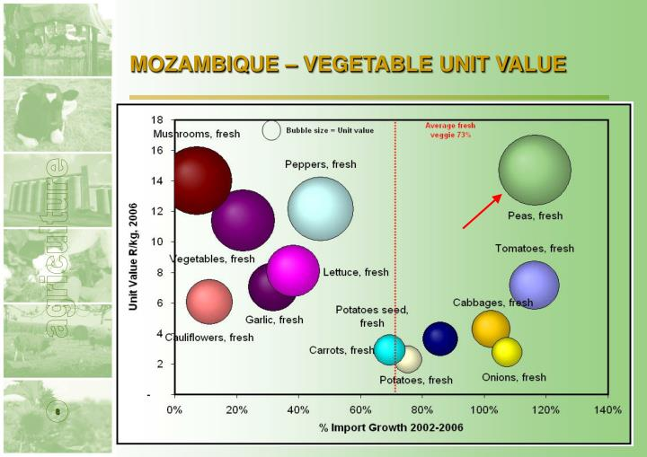 MOZAMBIQUE – VEGETABLE UNIT VALUE