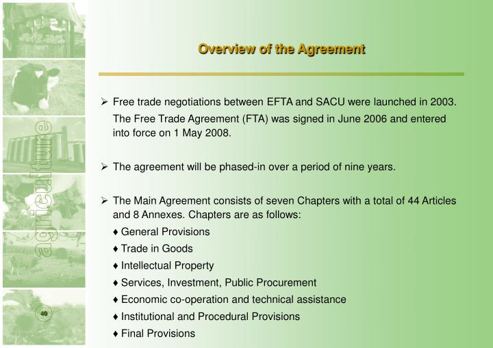 Overview of the Agreement