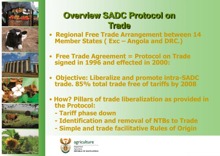 Overview SADC Protocol on Trade