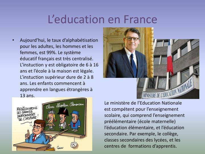 L'education en France