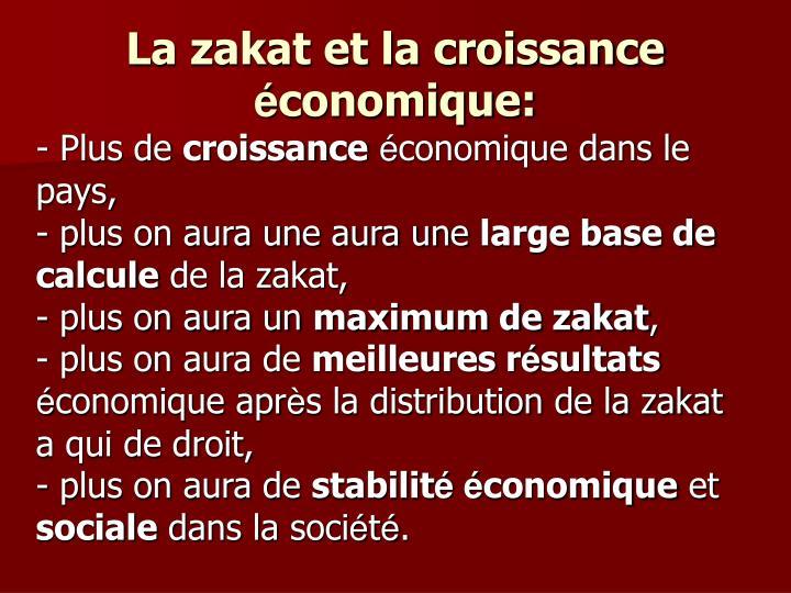 La zakat et la croissance