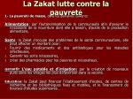 la zakat lutte contre la pauvret