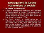 zakat garanti la justice conomique et sociale