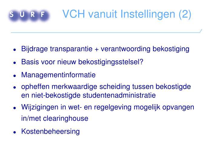 VCH vanuit Instellingen (2)