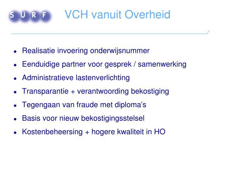 VCH vanuit Overheid