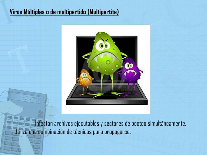 Virus Múltiples o de multipartido (Multipartite)