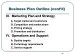 business plan outline cont d