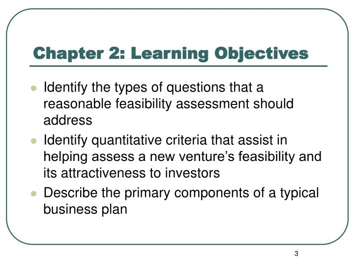 Chapter 2 learning objectives1