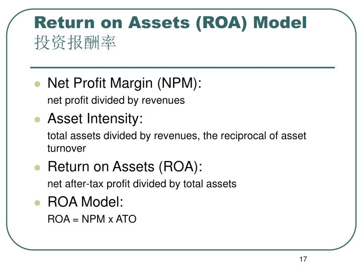 Return on Assets (ROA) Model