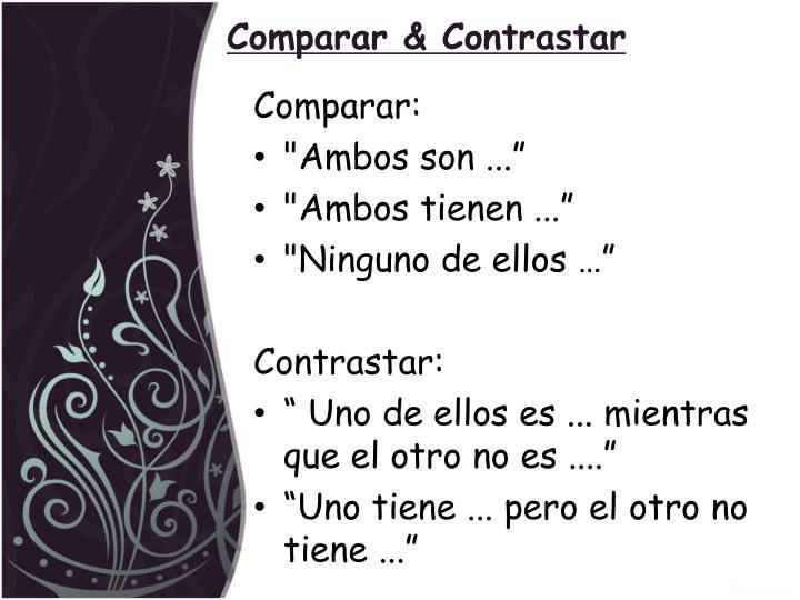 Comparar & Contrastar