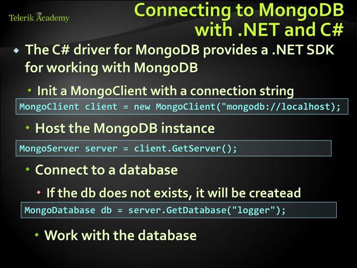 Connecting to MongoDB