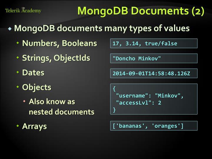 MongoDB Documents (2)