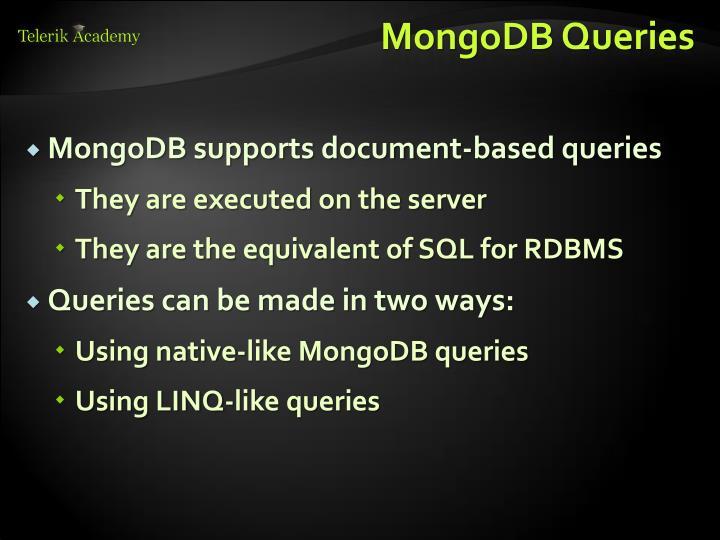 MongoDB Queries