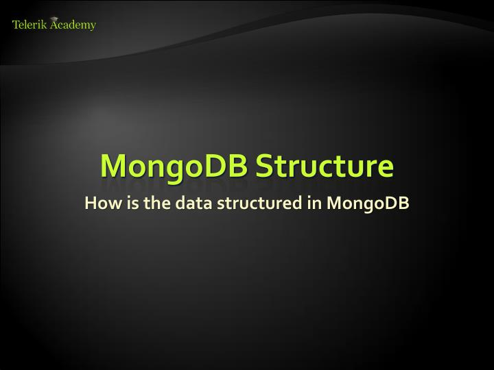 MongoDB Structure