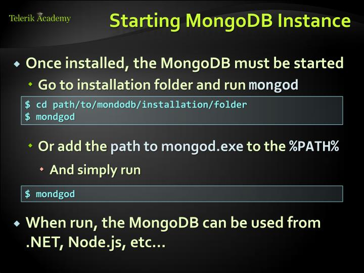 Starting MongoDB Instance