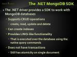 the net mongodb sdk