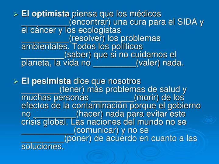 El optimista