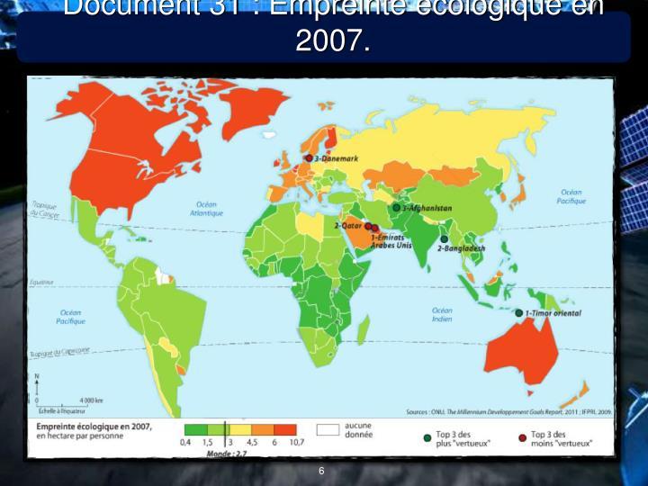 Document 31 : Empreinte écologique en 2007.