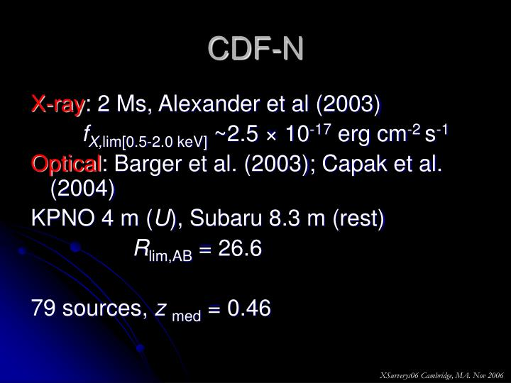 CDF-N