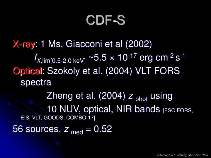CDF-S