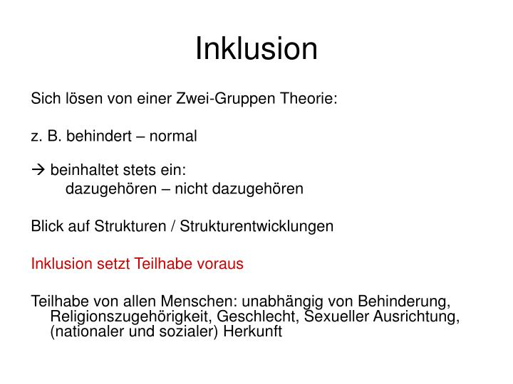 Inklusion