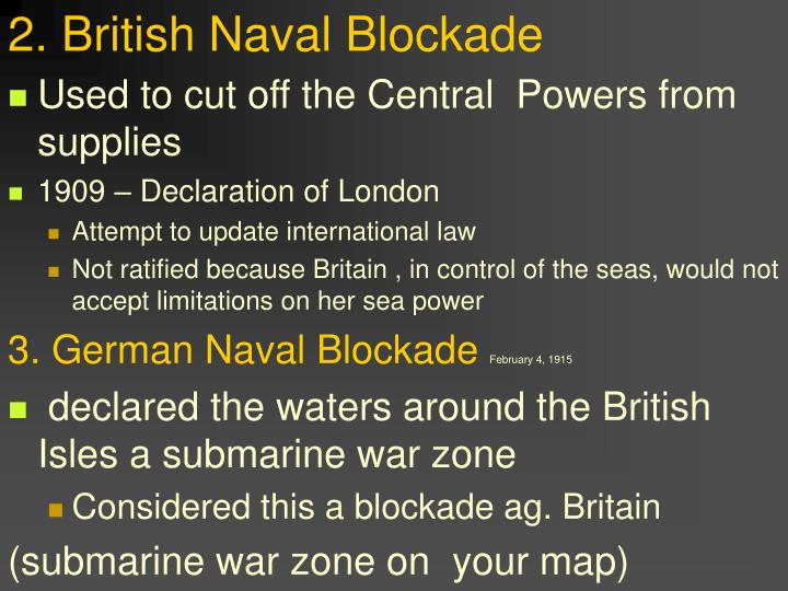 2 british naval blockade