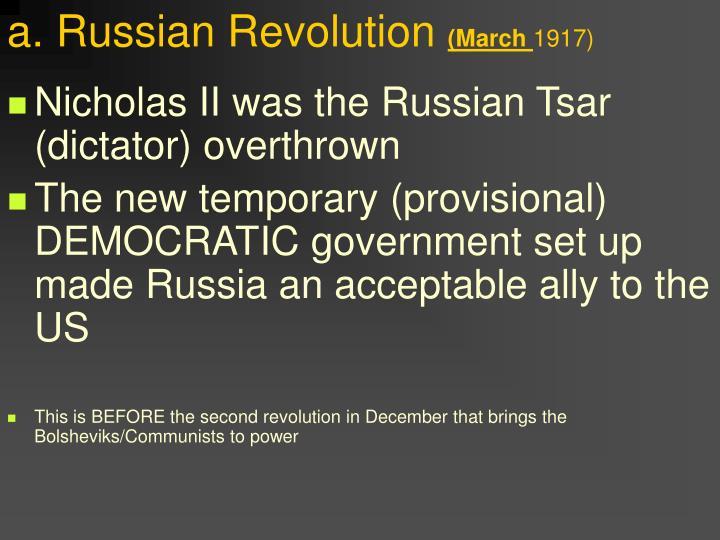 a. Russian Revolution