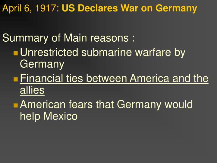 April 6, 1917: