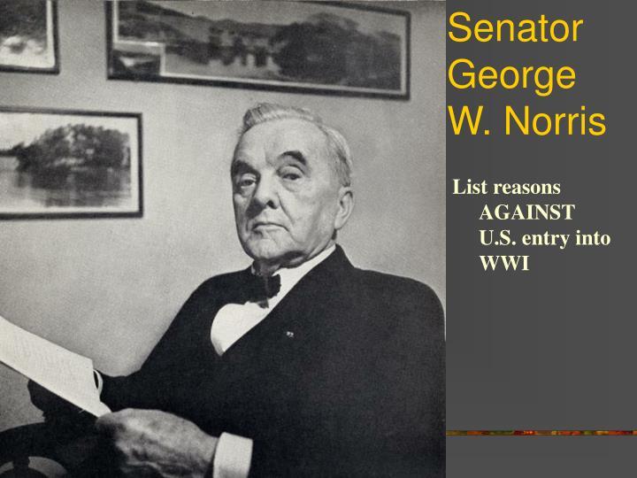 Senator George W. Norris