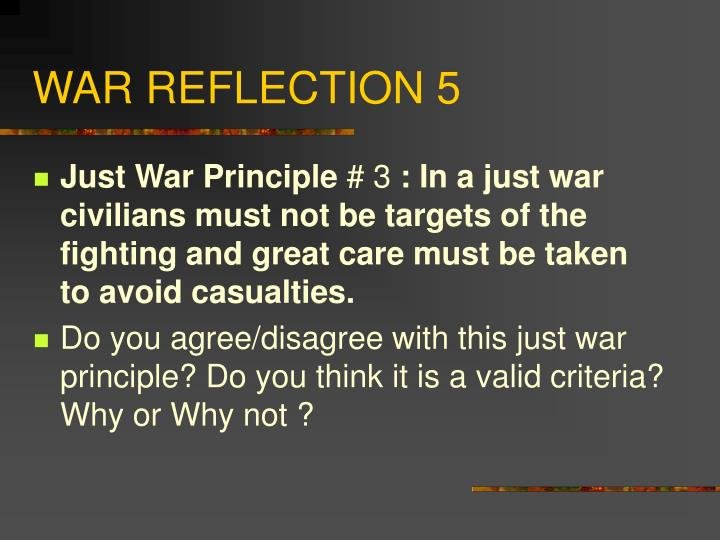 WAR REFLECTION 5