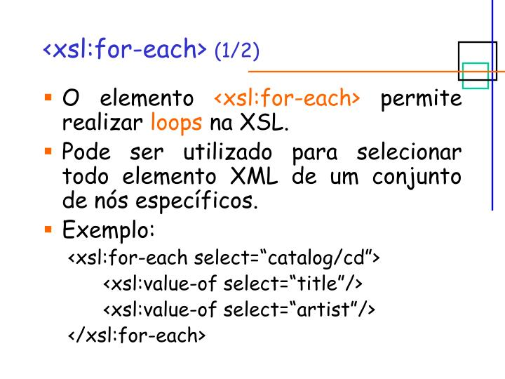 <xsl:for-each>