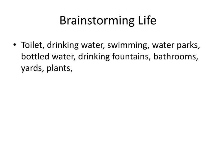 Brainstorming Life