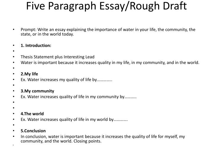 Five Paragraph Essay/Rough Draft