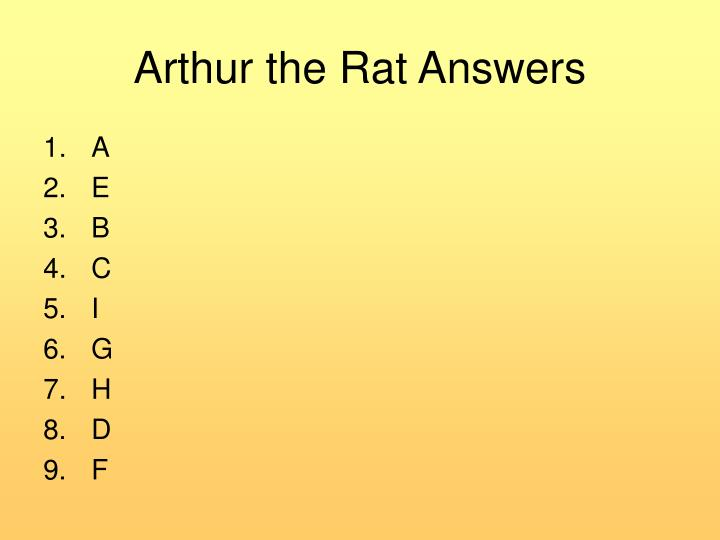 Arthur the Rat Answers