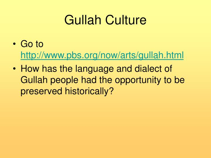 Gullah Culture