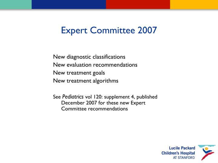 Expert Committee 2007