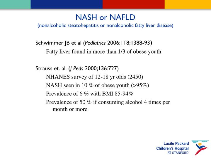 NASH or NAFLD