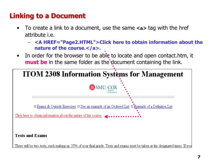 Linking to a Document