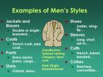 examples of men s styles
