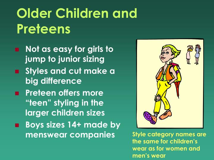 Older Children and Preteens