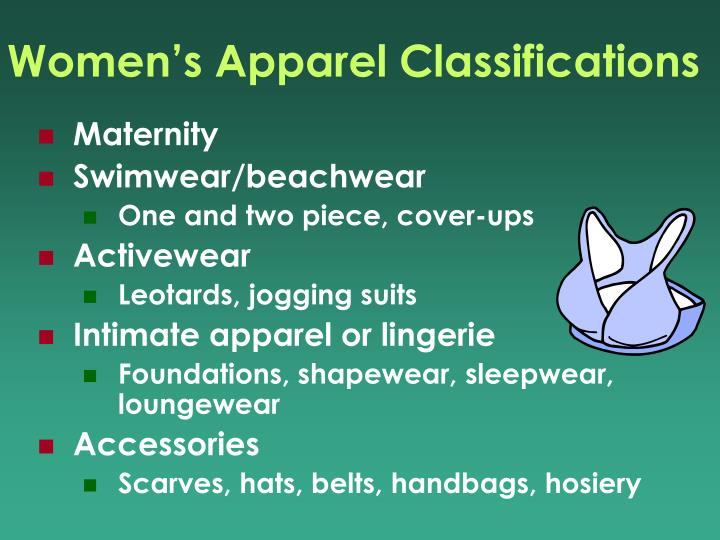 Women's Apparel Classifications