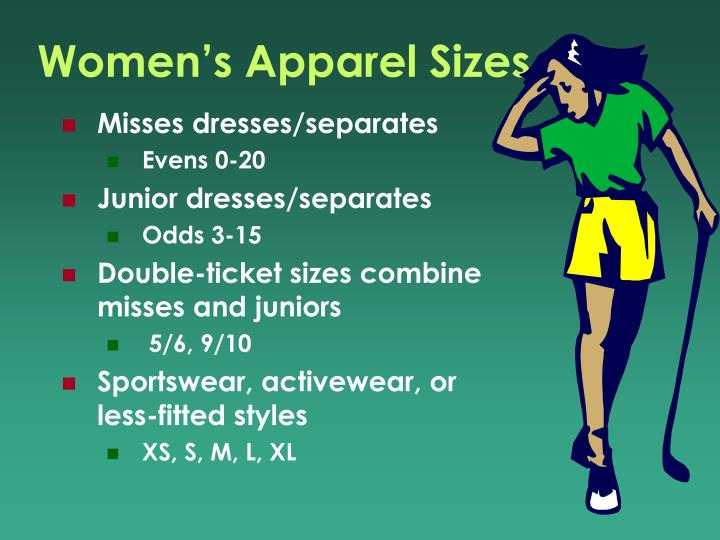 Women's Apparel Sizes