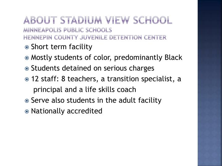 About Stadium View School