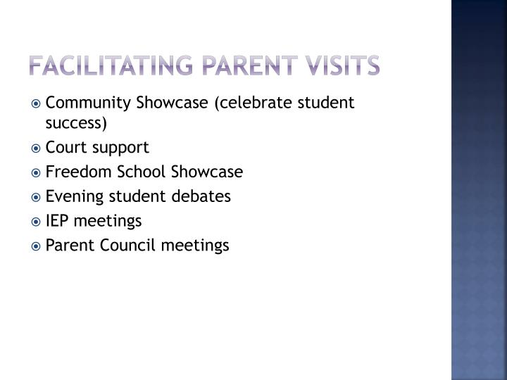 Facilitating Parent Visits